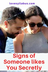 Signs of liking you secretly
