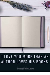 More than an Author loves his books