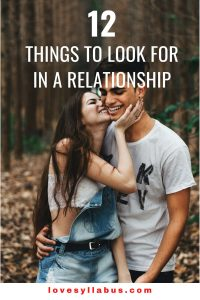 things to look for in a relationship