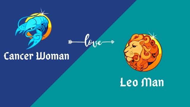 Cancer Woman with a Leo man