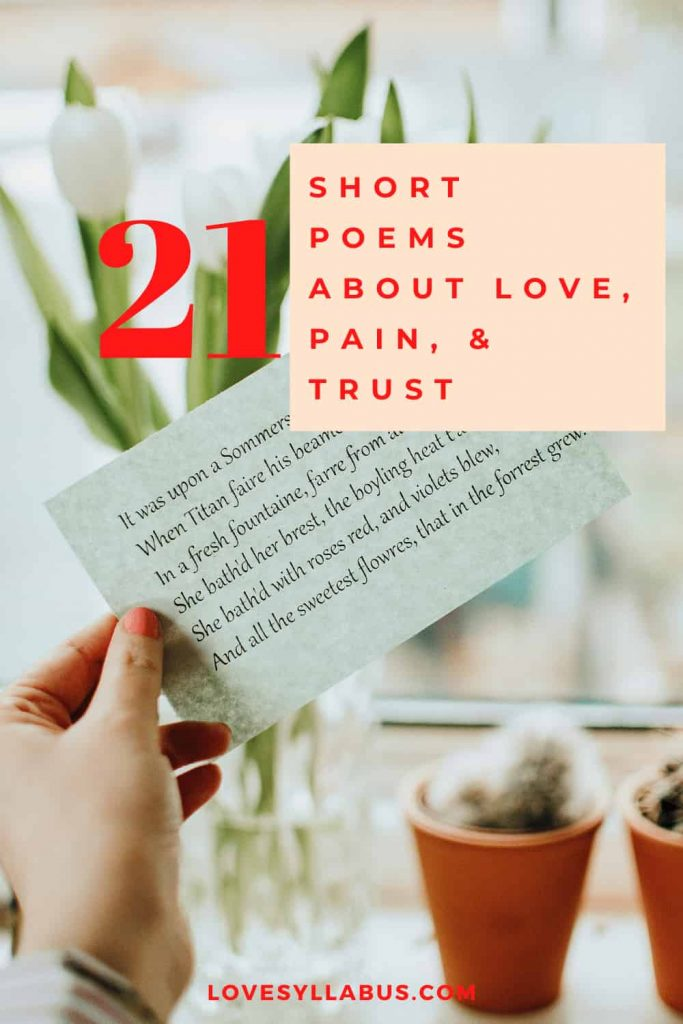 Short Poems About Love, Pain, and Trust